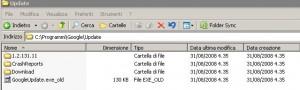 Rinominate il file GoogleUpdate.exe così da non farlo più eseguire.