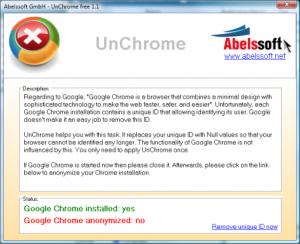 Elimina lo UniqueId di Chrome