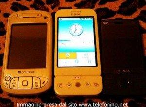 Una foto del primo cellulare con Andorid come S.O.