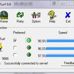 UltraSurf in esecuzione