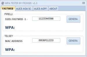 WiFi crack reti Alice e Fastweb con chiave WPA