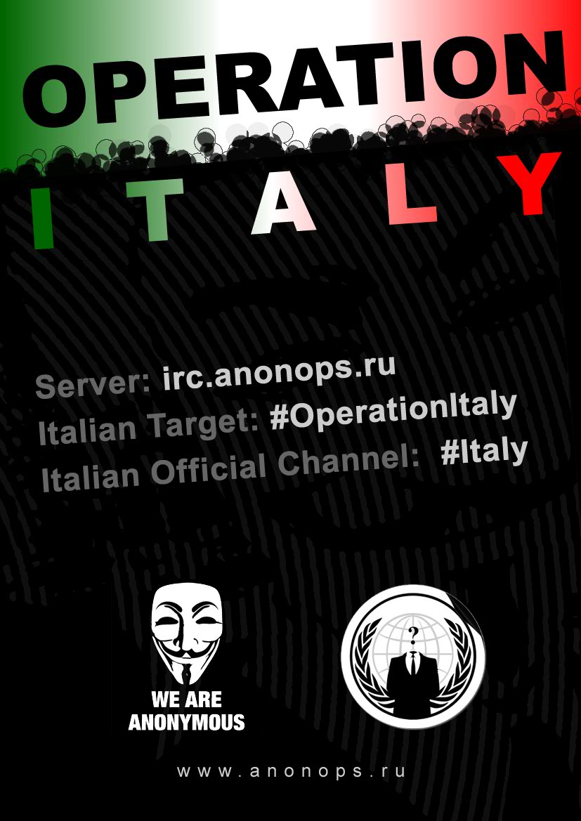 Anonymous Operation Italy
