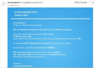 Anonyupload - Free, Legal & Nice!