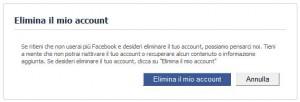 Cancellazione Account FaceBook