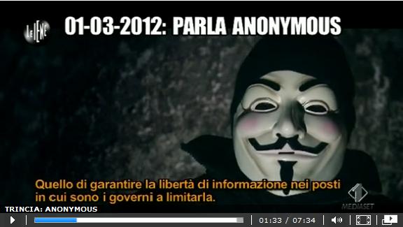Le Iene – Intervista Anonymous