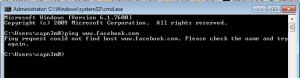 Facebook ping