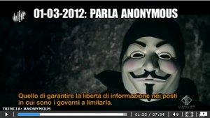 Le Iene - Intervista Anonymous