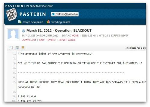 Ultime notizie da Pastebin.com, il famoso repository online di file ...
