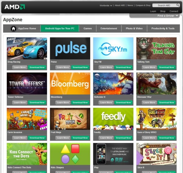 AMD AppZone: usare app Android su Windows