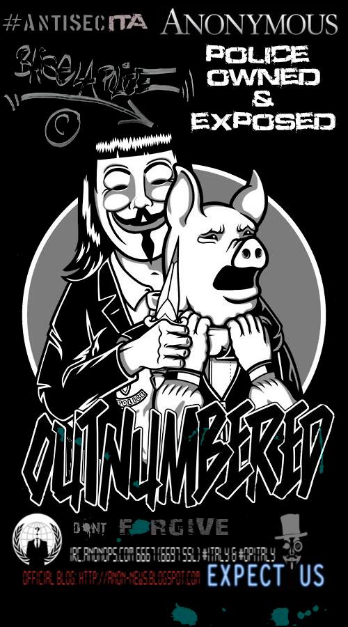 Anonymous colpisce il sito della polizia italiana