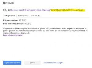 Google usg parameter