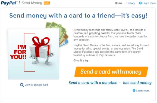 Paypal su Facebook per mandare soldi agli amici