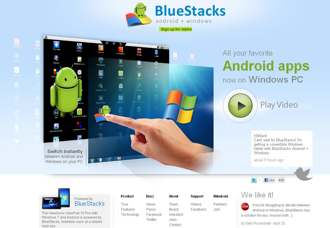 BlueStacks da via l'invasione di Android nel feudo Apple