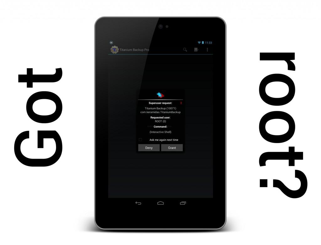 Root del Nexus 7