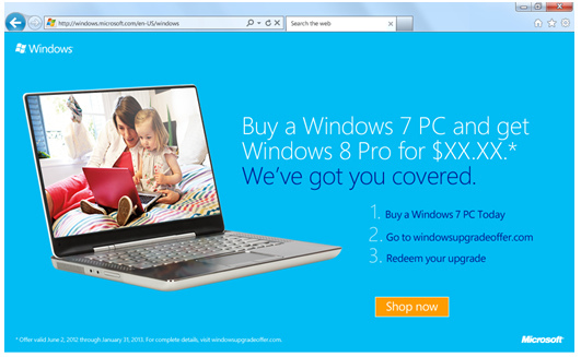 Windows Upgrade Offer: l'offerta speciale per passare a Windows 8