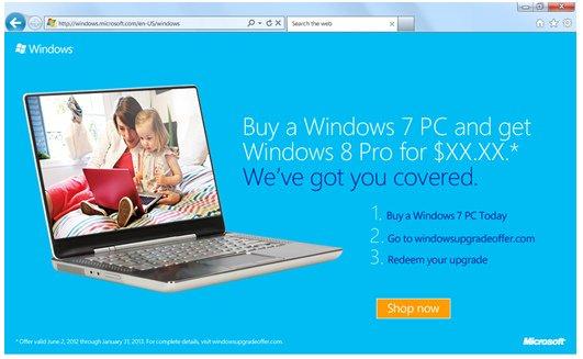 Windows Upgrade Offer: l'offerta speciale per passare a Windows 8
