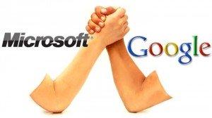 Microsoft vs Google: accusato BigG di violare la privacy