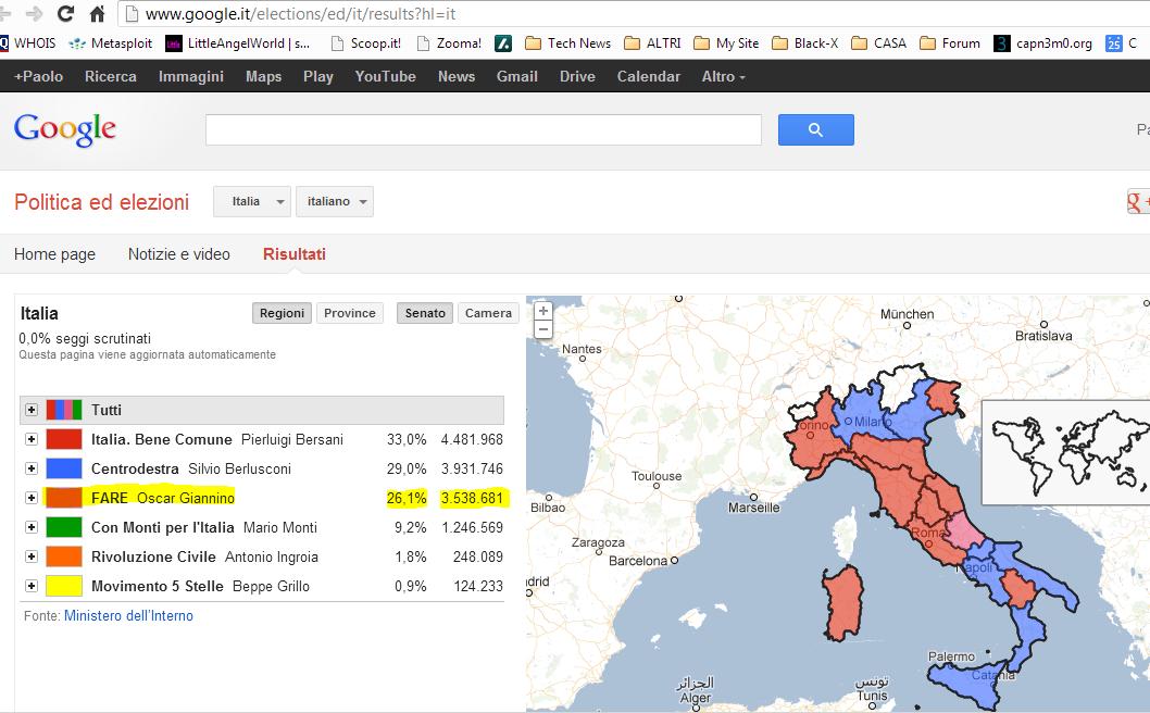 Elezioni 2013: Google Epic Fail, Giannino meglio di Grillo!!