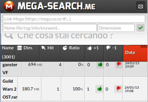 Search-Mega: eliminazione voluta da Mega