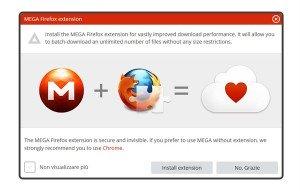 Estensione Firefox MEGA: la soluzione dedicata alla creatura Dotcom