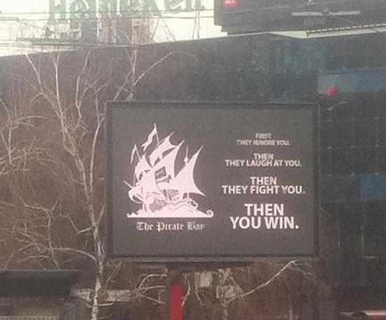 Hacker dei cartelloni pubblicitari per Pirate Bay