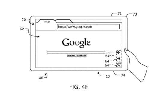 Nuovo brevetto Google per interfaccia tablet
