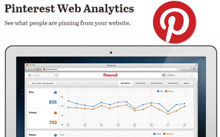 Pinterest Web Analytics Tool