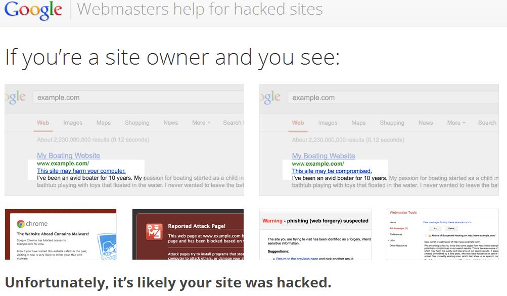 Google aiuta gli utenti ai quali è stato hackerato il sito