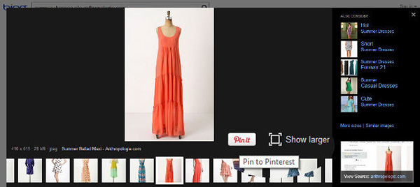 Bing introdurrà il pulsante Pinterest