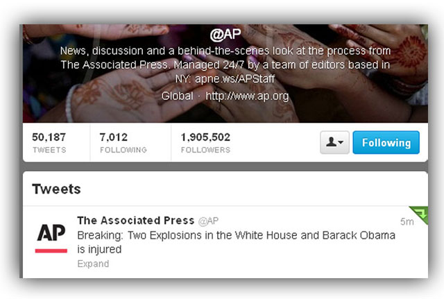 Twitter AP Account Hacked