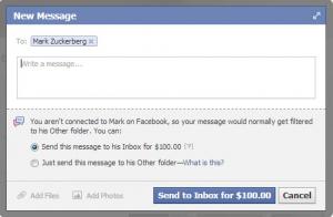 Messaggi Facebook a pagamento