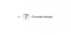 Apple iOs Concept Flat Design