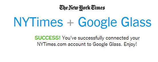 Google Glass: l'app di New York Times