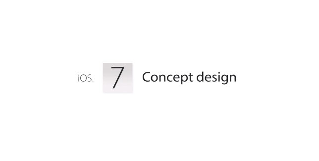 Apple iOs 7: alcuni concept video del futuro flat design