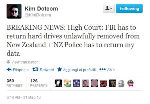Twitter Kim Dotcom