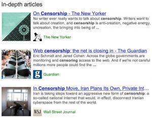 Google In-Depth Feature