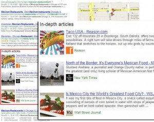 Google In-Depth SERP