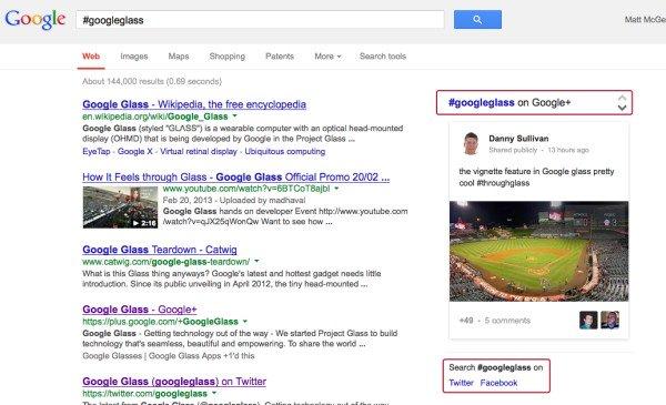 google-hashtag-search