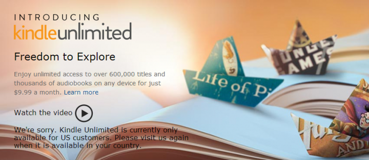Amazon Kindle Unlimited: 9 dollari per 600mila libri!
