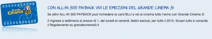 Grande Cinema con Payback