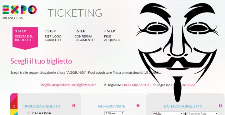 Expo 2015: Anonymous attacca la Biglietteria Online!
