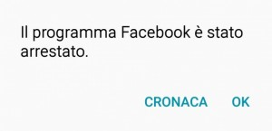 App Facebook Android Crash