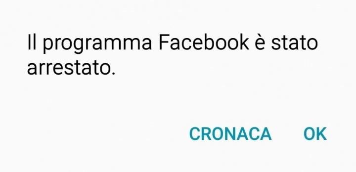App Facebook Android Crash