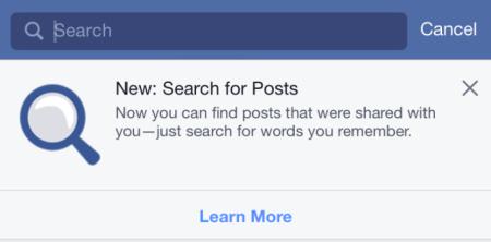 Novità Facebook:  La Ricerca Universale Dei Post