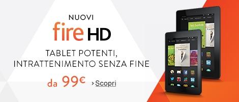 Kindle Fire a partire da 99 Euro