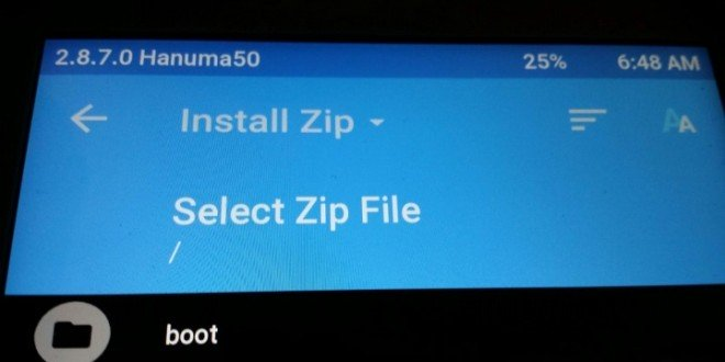 Install Zip Update TWRP Recovery