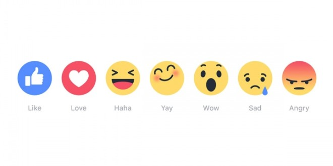 Novità: Facebook Reactions
